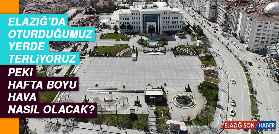 Elazığ'da oturduğumuz yerde terliyoruz… Peki, hafta boyu hava nasıl olacak?