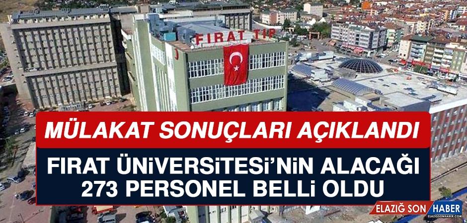 Fırat Üniversitesi Personel Alımı Mülakat Sonuçları Açıklandı