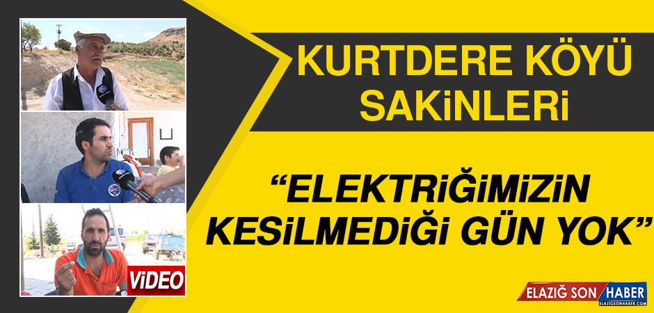 """Kurtdere Köyü Sakinleri: """"Elektriğimizin Kesilmediği Gün Yok"""""""