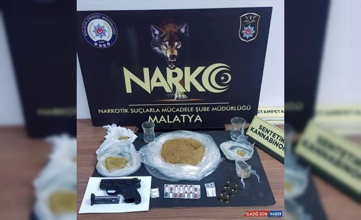 Malatya'da uyuşturucu operasyonunda gözaltına alınan iki zanlı tutuklandı
