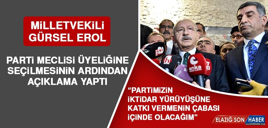 Milletvekili Erol, Parti Meclisi Üyeliğine Seçilmesiyle İlgili Açıklama Yaptı