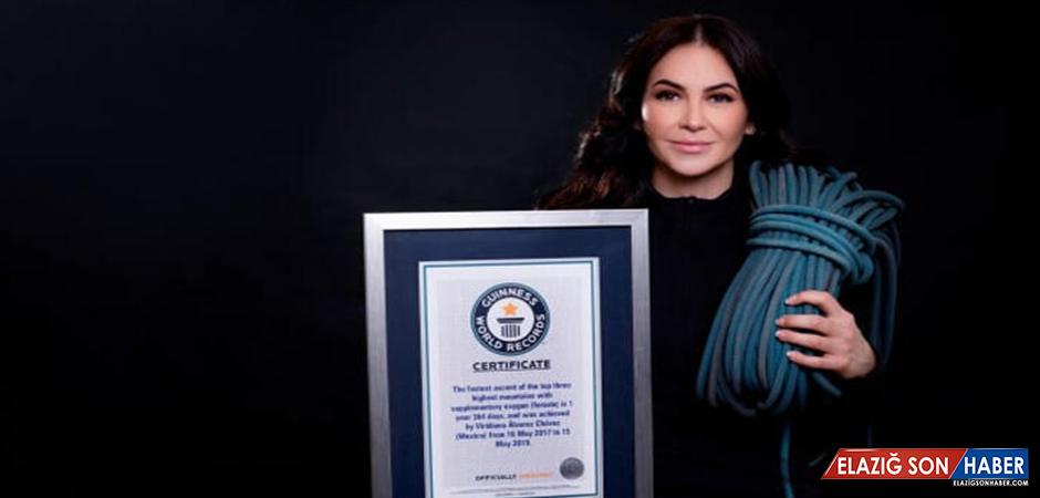 Dünyanın En Yüksek Üç Zirvesine En Hızlı Tırmanan Kadın, Rekor Kırdı