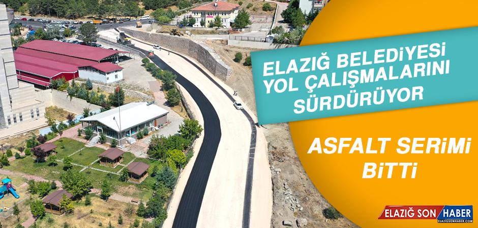 Elazığ Belediyesi Yol Çalışmalarını Sürdürüyor