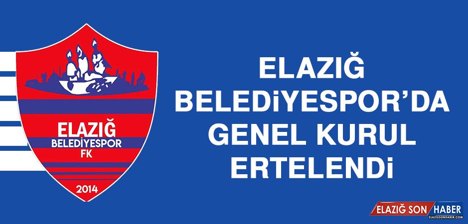 Elazığ Belediyespor'da Genel Kurul Ertelendi