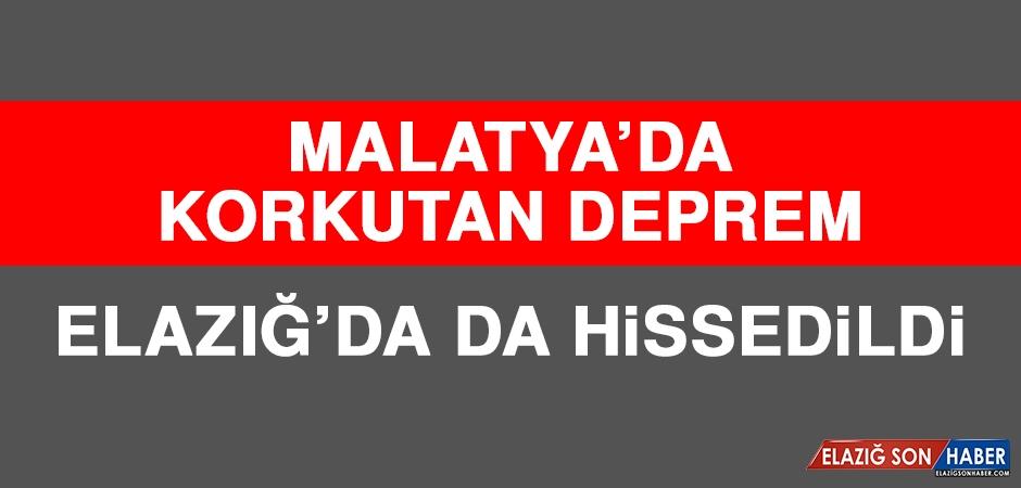 ELAZIĞ'DA HİSSEDİLEN DEPREM!