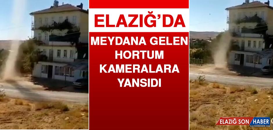 Elazığ'da Meydana Gelen Hortum Kameralara Yansıdı
