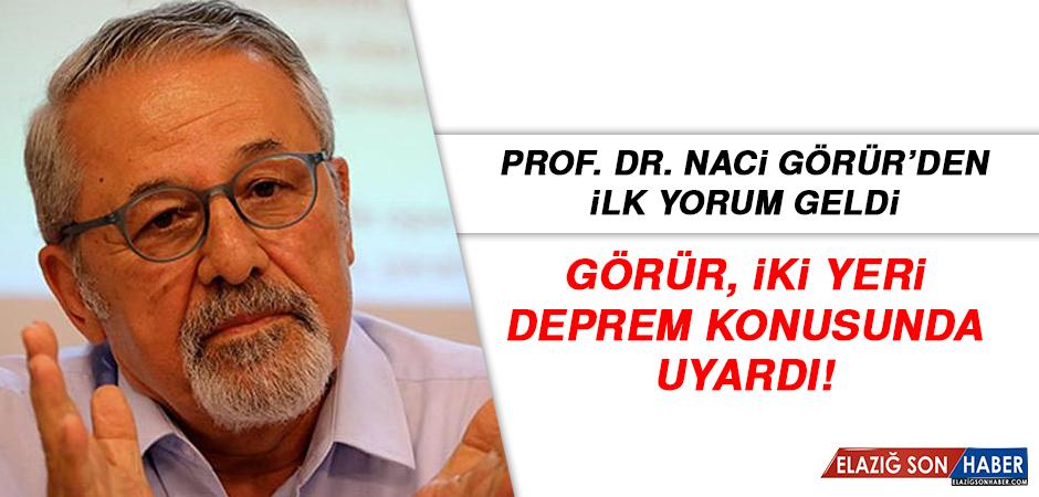 Hemşehrimiz Prof. Dr. Naci Görür'den İlk Yorum Geldi