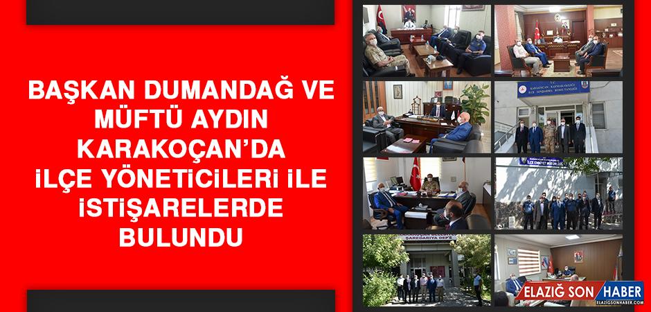 Başkan Dumandağ ve Müftü Aydın, Karakoçan'da