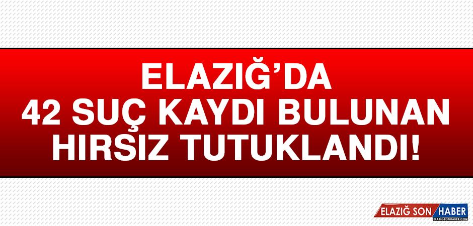 Elazığ'da 42 Suç Kaydı Bulunan Hırsız, Tutuklandı