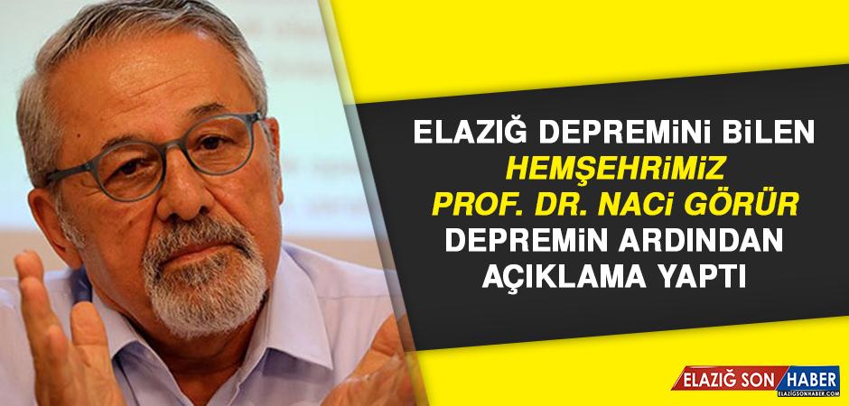Hemşehrimiz Prof. Dr. Naci Görür Depreminin Ardından Uyarıda Bulundu