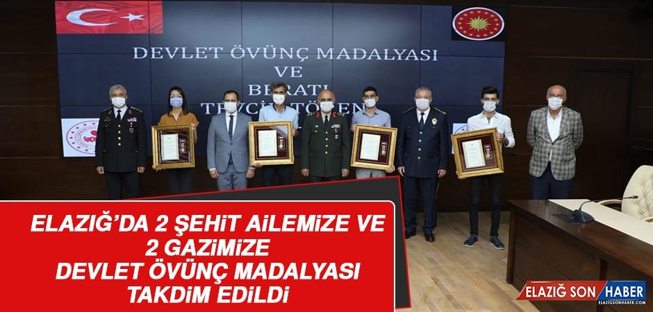 Şehit Ailelerimiz ve Gazilerimize Devlet Övünç Madalyası Verildi