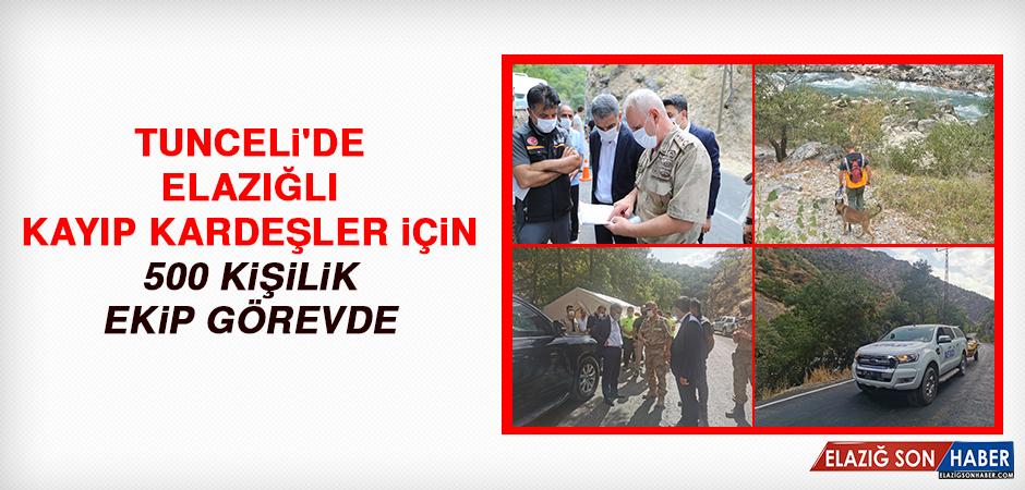Tunceli'de Elazığlı Kayıp Kardeşler İçin 500 Kişilik Ekip Görevde