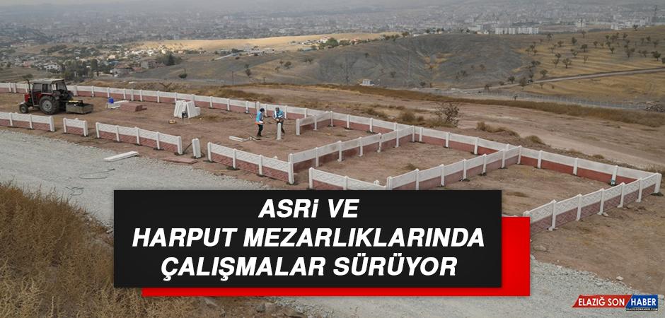 Asri Ve Harput Mezarlıklarında Çalışmalar Sürüyor