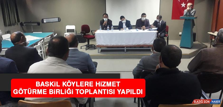 Baskil Köylere Hizmet Götürme Birliği Toplantısı Yapıldı