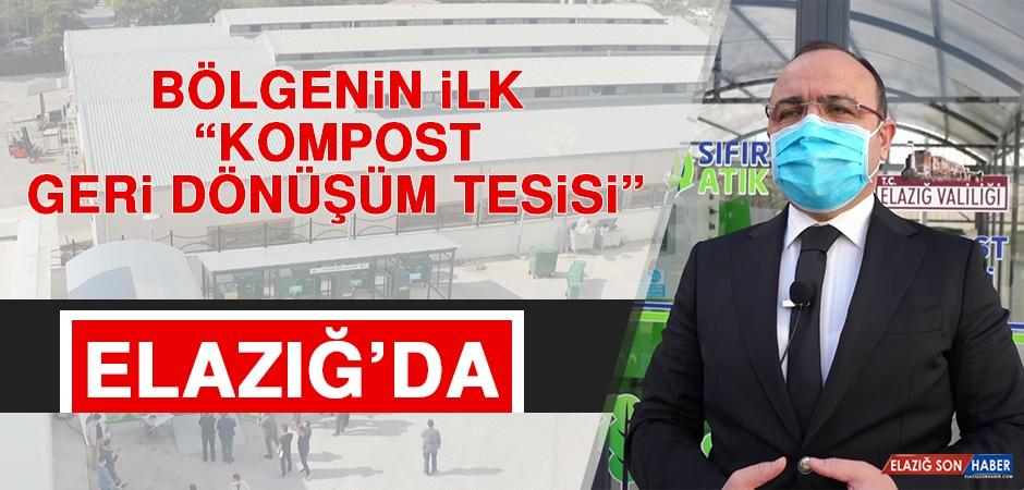 """Bölgenin """"İlk Kompost Geri Dönüşüm Tesisi"""" Elazığ'da"""