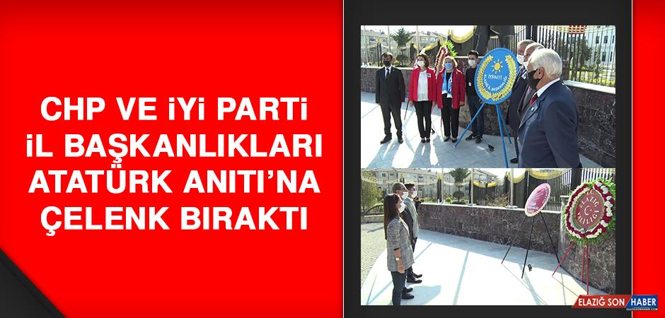 CHP ve İYİ Parti İl Başkanlıkları Atatürk Anıtı'na Çelenk Bıraktı