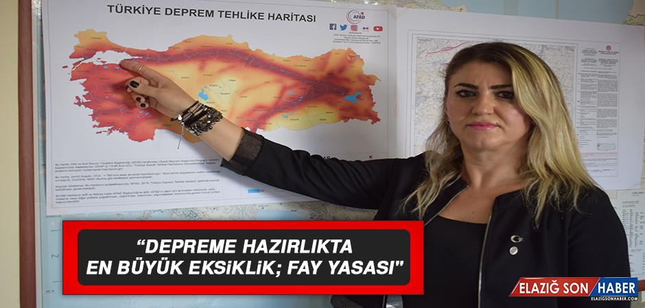 """""""DEPREME HAZIRLIKTA EN BÜYÜK EKSİKLİK; FAY YASASI"""""""
