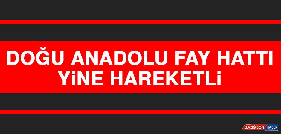 Doğu Anadolu Fay Hattı Yine Hareketli
