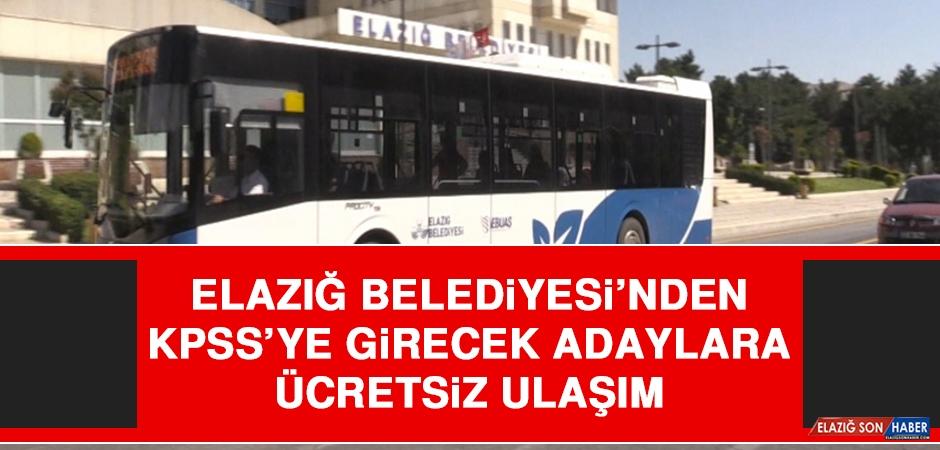 Elazığ Belediyesi'nden KPSS'ye Girecek Adaylara Ücretsiz Ulaşım