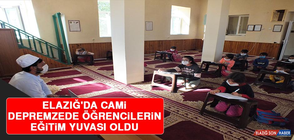 Elazığ'da Cami Depremzede Öğrencilerin Eğitim Yuvası Oldu