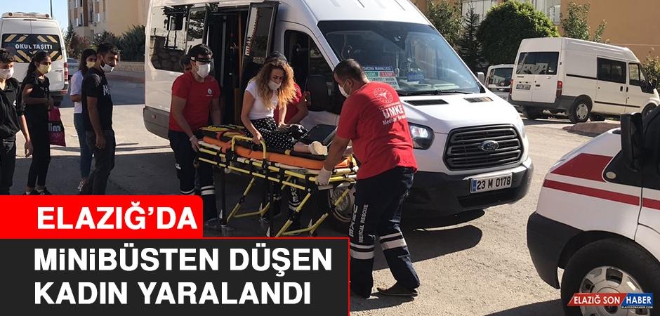 Elazığ'da Minibüsten Düşen Kadın Yaralandı