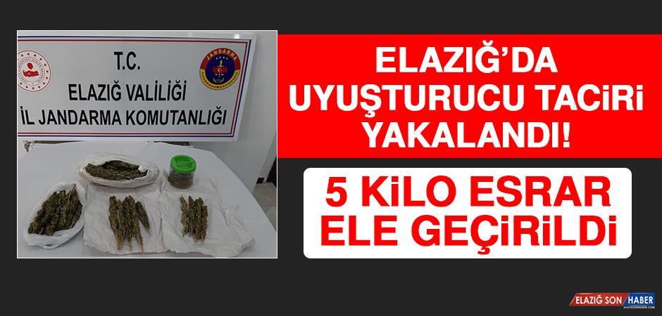 Elazığ'da Uyuşturucu Taciri Yakalandı, 5 Kilo Esrar Ele Geçirildi!