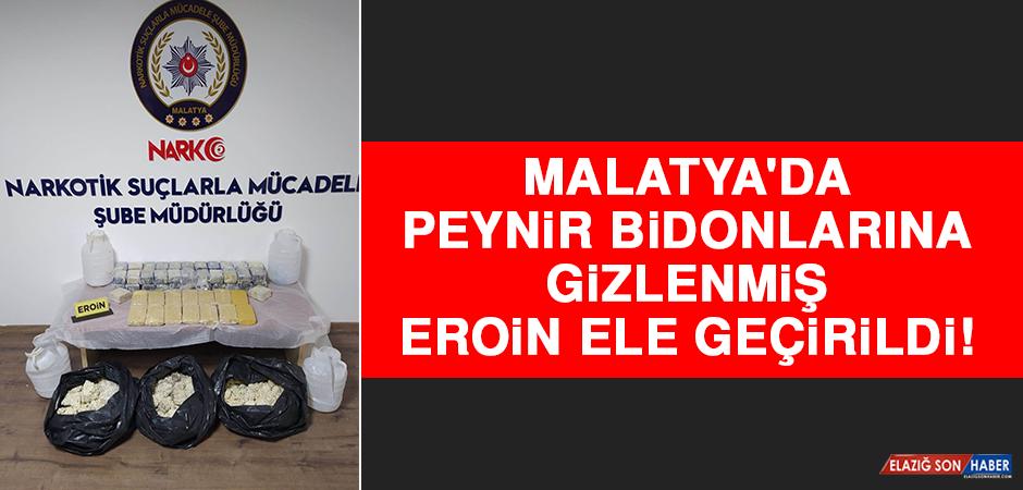 Malatya'da Peynir Bidonlarına Gizlenmiş Eroin Ele Geçirildi