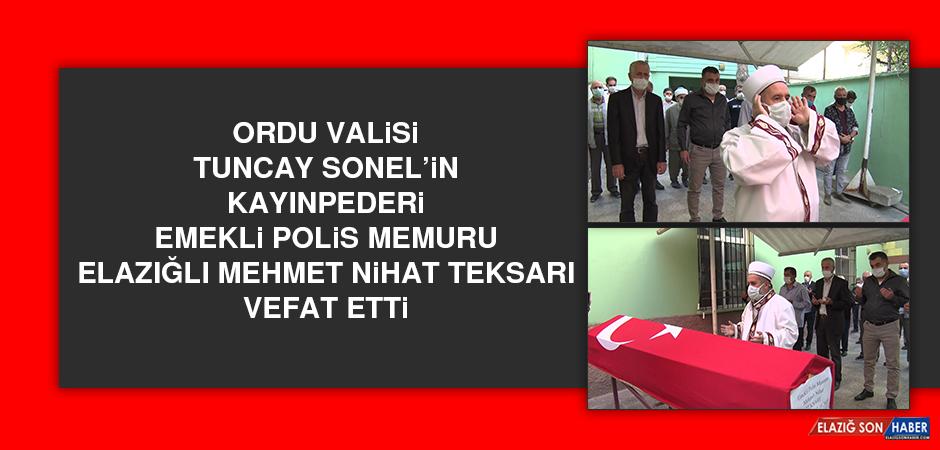 Ordu Valisi Tuncay Sonel'in Kayınpederi Vefat Etti