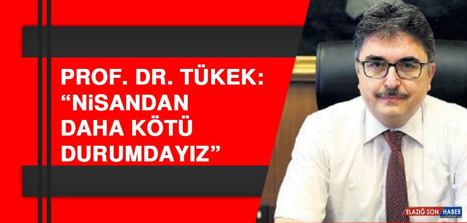 """Prof. Dr. Tükek: """"Nisandan daha kötü durumdayız"""""""