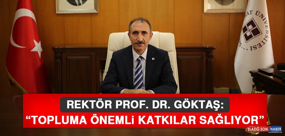 Rektör Prof. Dr. Göktaş, Dünya Gazeteciler Günü Nedeniyle Açıklama Yaptı