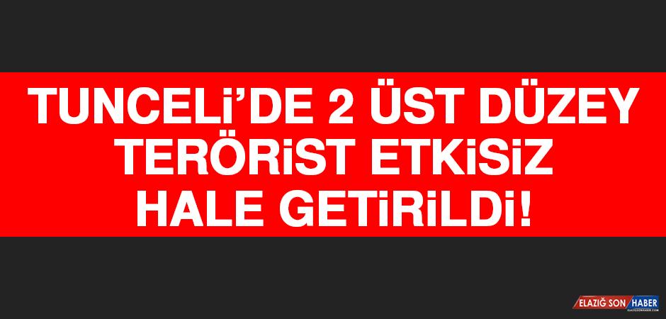 Tunceli'de 2 Üst Düzey Terörist Etkisiz Hale Getirildi
