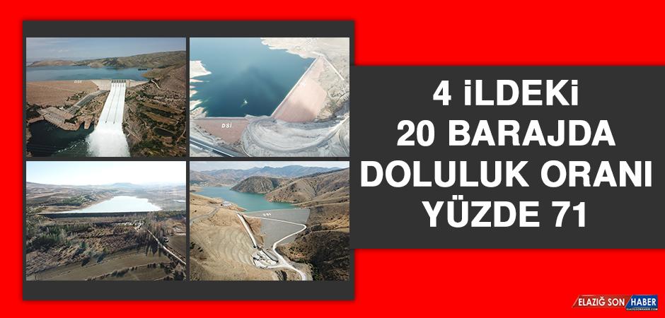 4 İldeki 20 Barajda Doluluk Oranı Yüzde 71