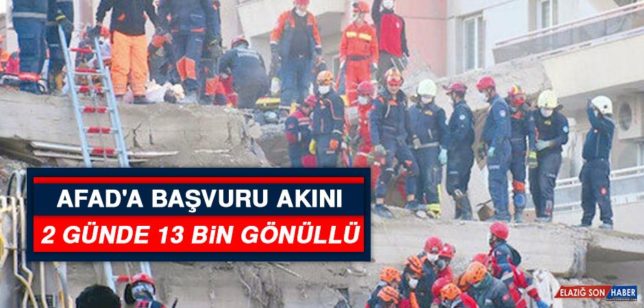 AFAD'a Başvuru Akını: 2 Günde 13 Bin Gönüllü