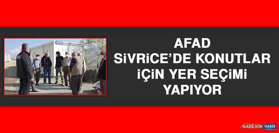 AFAD, Sivrice'de Konutlar İçin Yer Seçimi Yapıyor