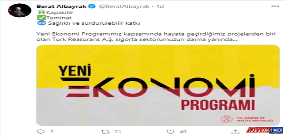 Bakan Albayrak'tan 'Türk Reasürans A.Ş' açıklaması