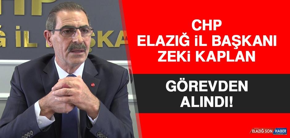 CHP Elazığ İl Başkanı Kaplan, Görevden Alındı