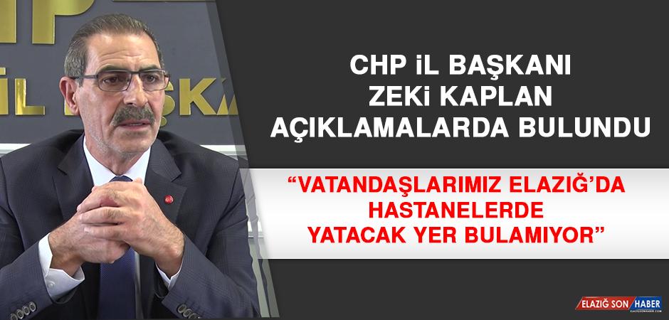 CHP İl Başkanı Kaplan: Hastaneler Yetersiz
