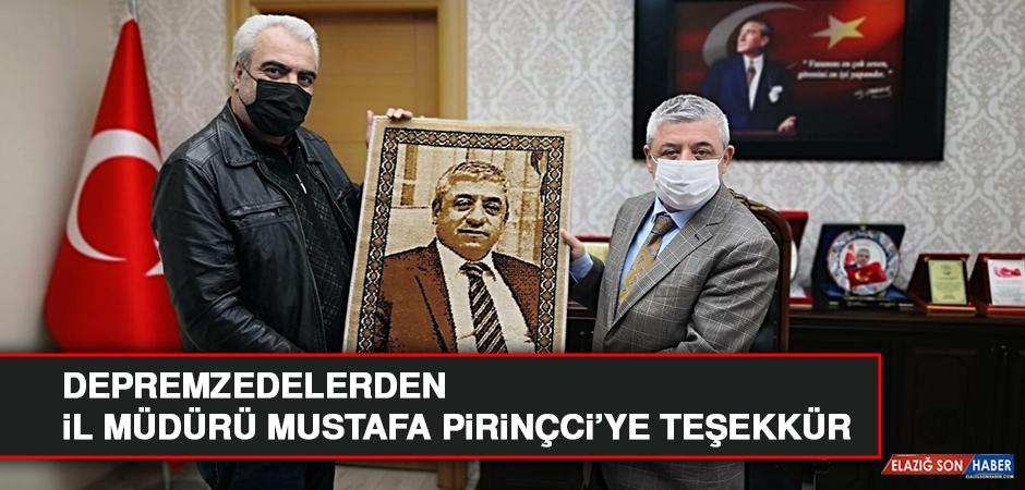 Depremzedelerden Mustafa Pirinçci'ye Teşekkür