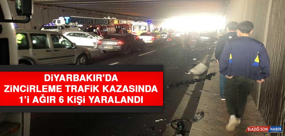 Diyarbakır'da Zincirleme Trafik Kazasında 1'i Ağır 6 Kişi Yaralandı