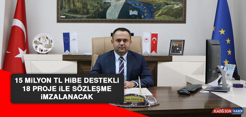 Elazığ'da 15 Milyon TL Hibe Destekli 18 Proje İle Sözleşme İmzalanacak