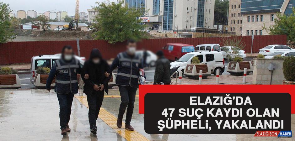 Elazığ'da 47 Suç Kaydı Olan Şüpheli, Çaldığı Otomobille Gezerken Yakalandı
