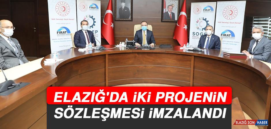 Elazığ'da İki Projenin Sözleşmesi İmzalandı