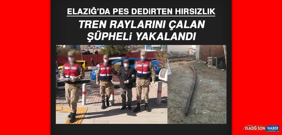 Elazığ'da pes dedirten hırsızlık! Tren raylarını çalan şüpheli yakalandı…