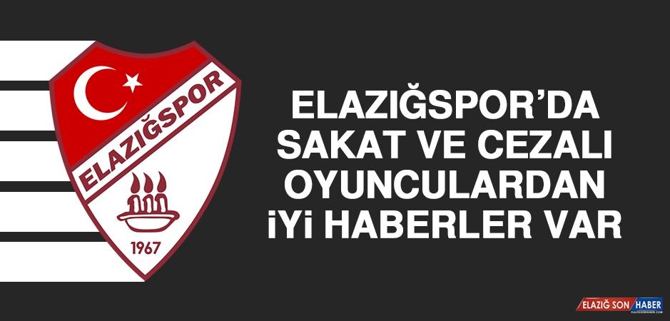 Elazığspor'da Sakat ve Cezalı Oyunculardan İyi Haberler Var