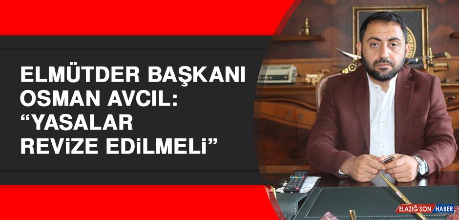 """ELMÜTDER Başkanı Avcıl: """"Yasalar revize edilmeli"""""""