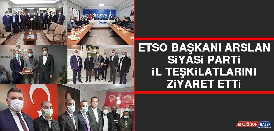 ETSO Başkanı Arslan Siyasi Parti İl Teşkilatlarını Ziyaret Etti