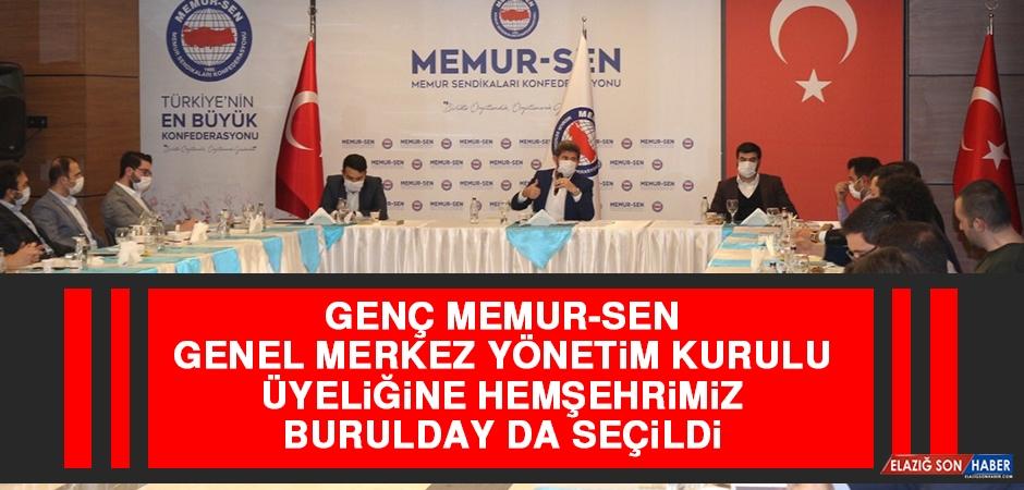 Genç Memur-Sen Yönetim Kurulu Üyeliğine Hemşehrimiz Burulday da Seçildi