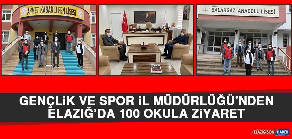 Gençlik Ve Spor İl Müdürlüğü'nden Elazığ'da 100 Okula Ziyaret