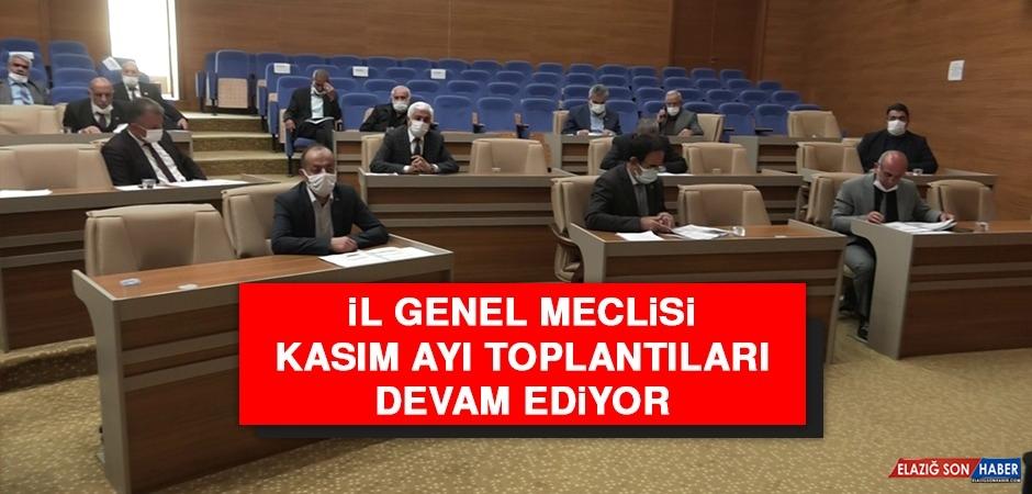 İl Genel Meclis, Kasım Ayı Oturumları Devam Ediyor