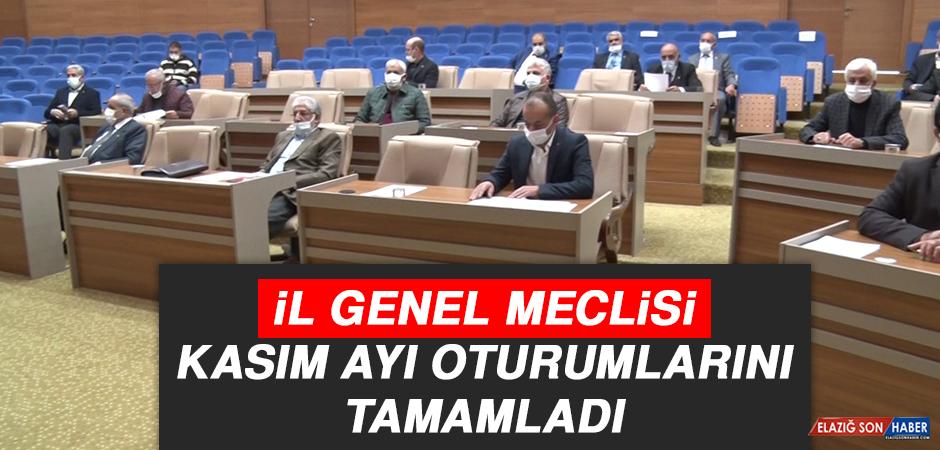 İl Genel Meclisi, Kasım Ayı Oturumlarını Tamamladı